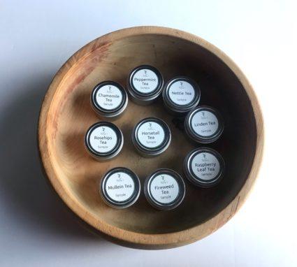 herbal tea sample