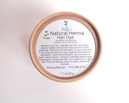 Natural Henna Hair Dye
