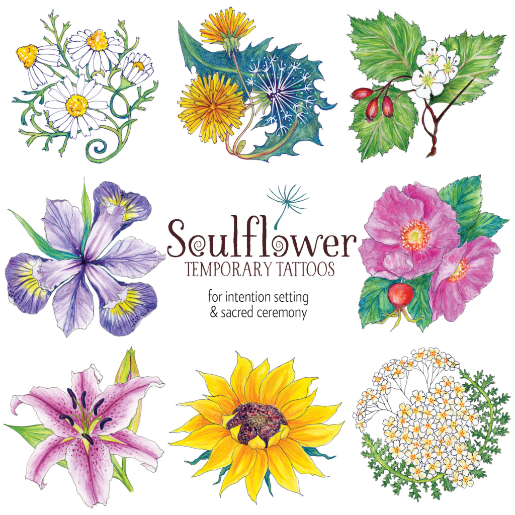 Soulflower Cards and Tattoos.
